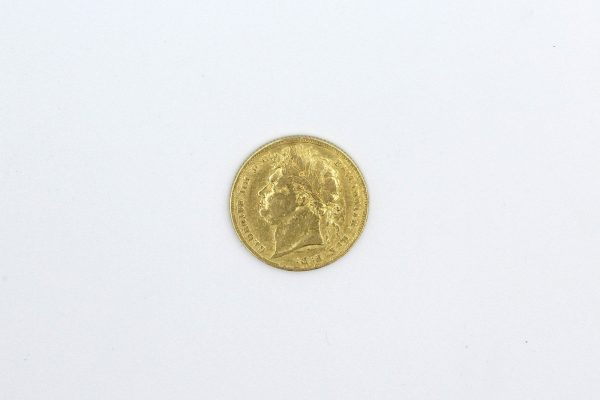 1824 george iv gold sovereign back