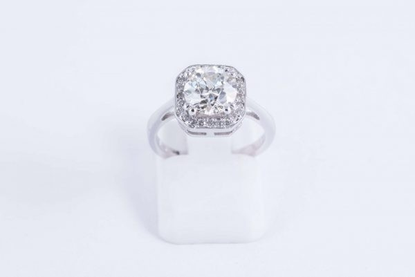 18ct white gold halo ring 2 1