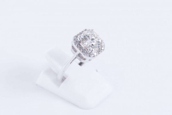 18ct white gold halo ring 4 1
