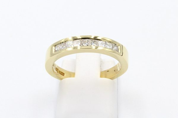 18k channel diamond set ring 1