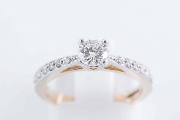 9ct Yellow Gold Solitaire Diamond Ring 1
