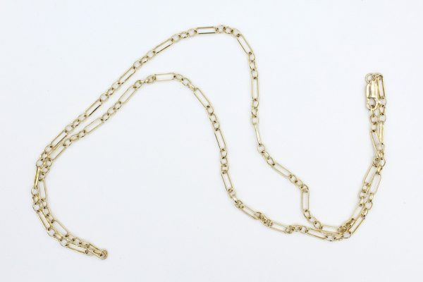 9k gold figaro chain 1