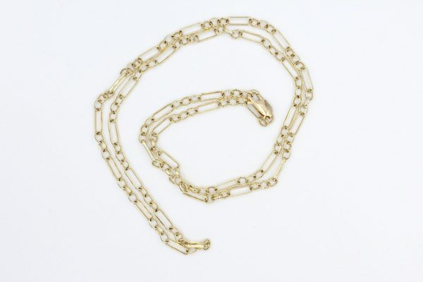 9k gold figaro chain 2
