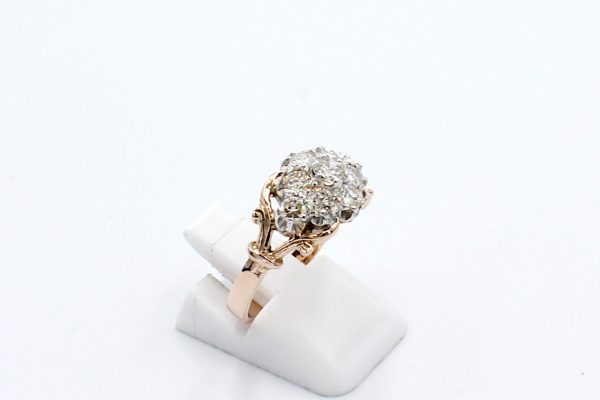 antique style diamond engagement ring side