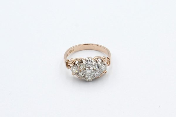 antique style diamond engagement ring top