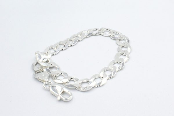 curb bracelet silver curled scaled 1