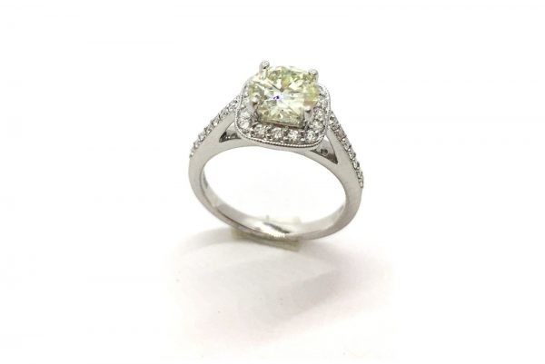 cushion shaped diamond ring 3