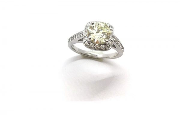 cushion shaped diamond ring 4