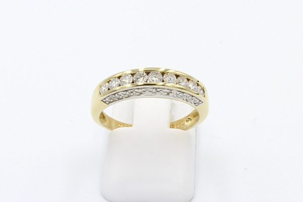 diamond channel gold ring 1