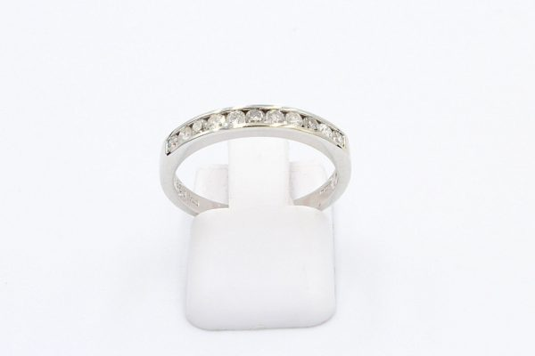 diamond channel ring white gold 1