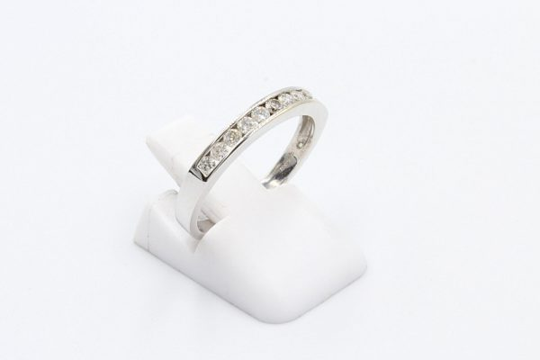 diamond channel ring white gold 2