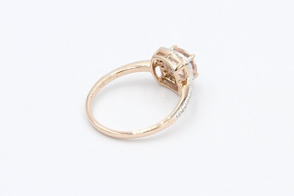 diamond cushion morganite ring 3