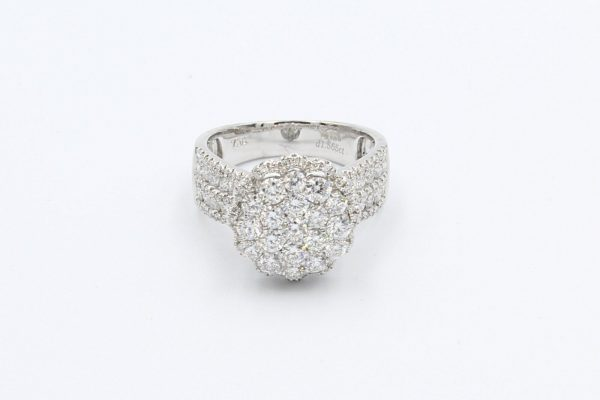diamond encrusted cluster ring 1