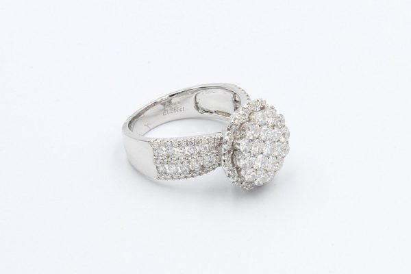 diamond encrusted cluster ring 2