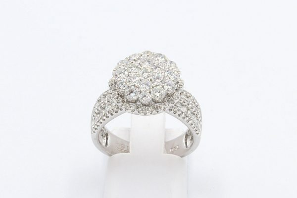 diamond encrusted cluster ring 4