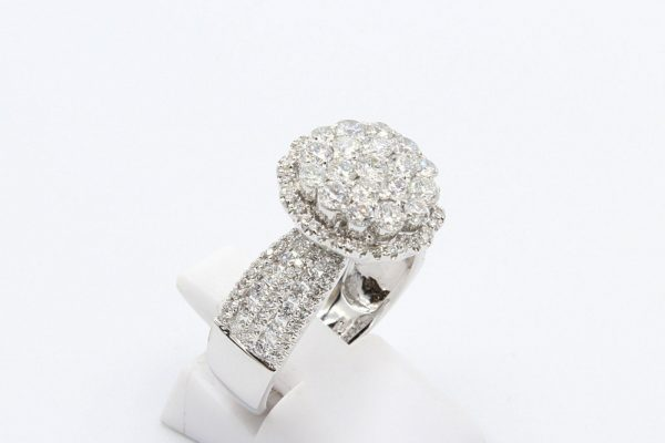 diamond encrusted cluster ring 5