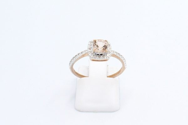 diamond morganite halo engagement ring 1