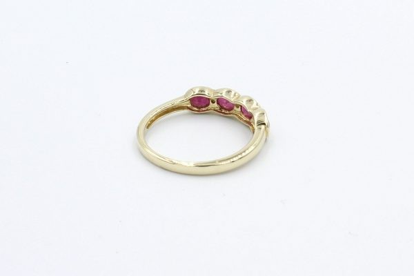 diamond ruby gold ring 3