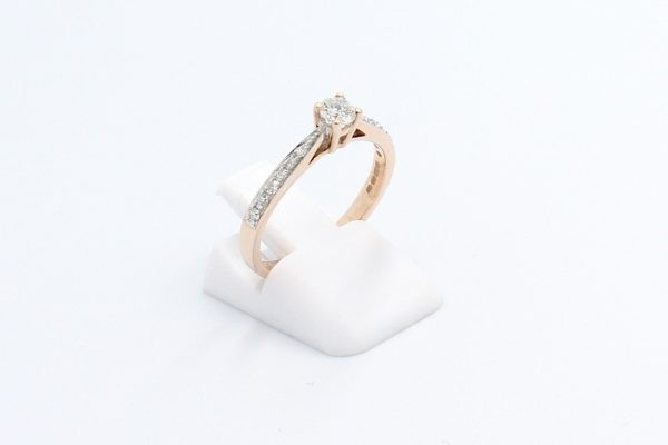 diamond solitaire engagement ring 1 4