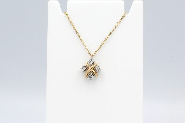 fancy diamond pendant chain