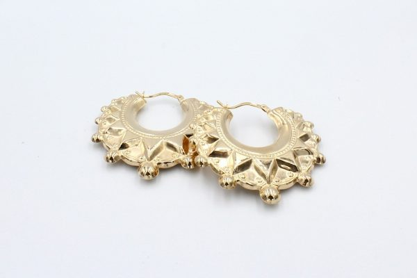 gold creole hooped earrings 1 scaled 1