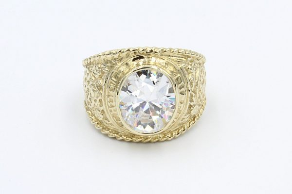 gold cz college ring 1