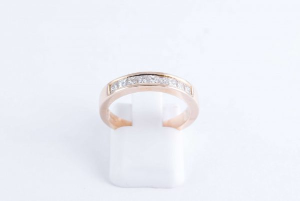 gold diamond channel ring 2