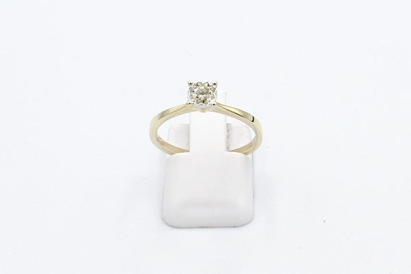 gold diamond engagement ring front 1