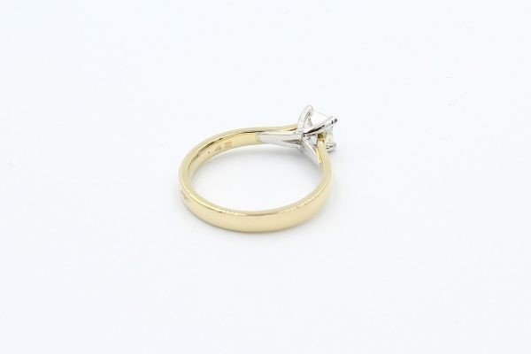 gold diamond solitaire engagement ring 3