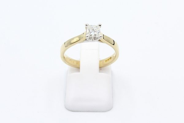 gold diamond solitaire engagement ring 4