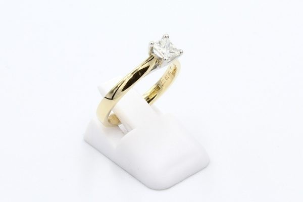 gold diamond solitaire engagement ring 5