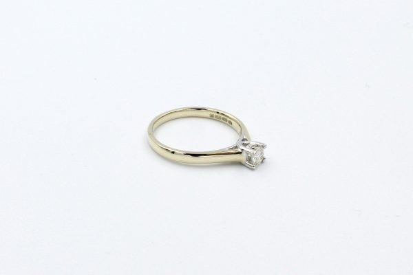 gold diamond solitaire ring 2