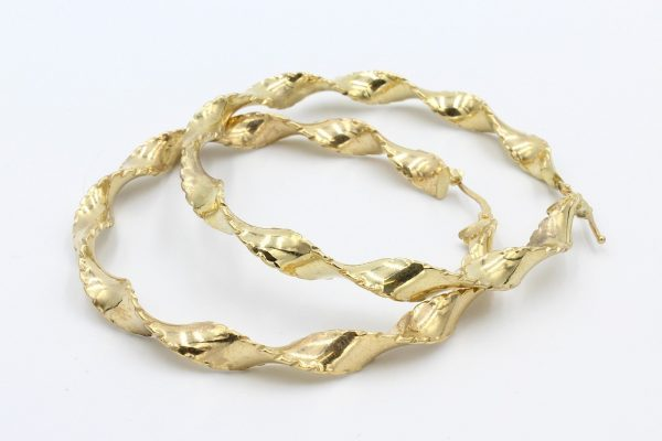 gold hoop twist earrings 1