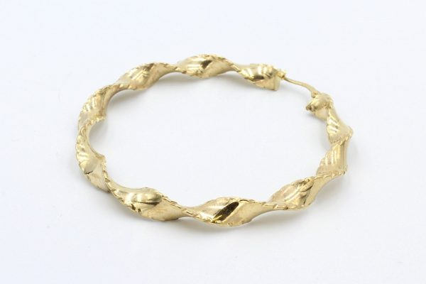 gold hoop twist earrings 2