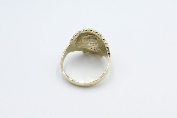 gold indian head ring back