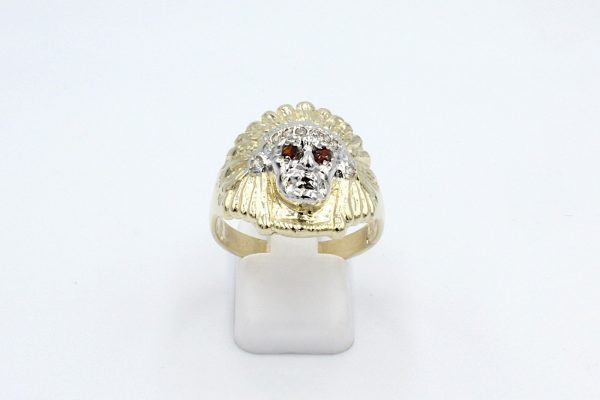 gold indian head ring front