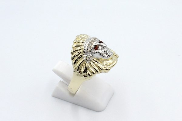 gold indian head ring side