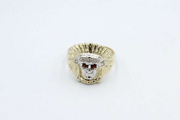 gold indian head ring top