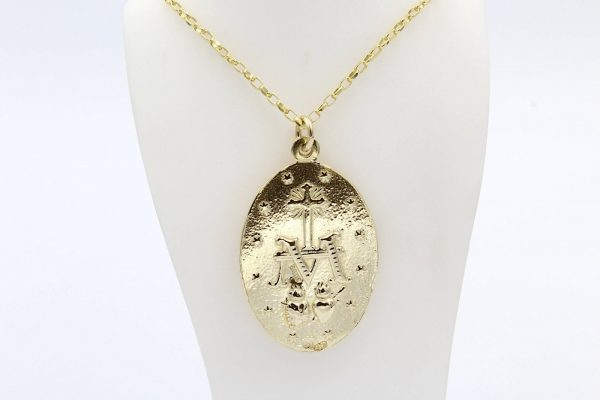 gold our lady locket 2