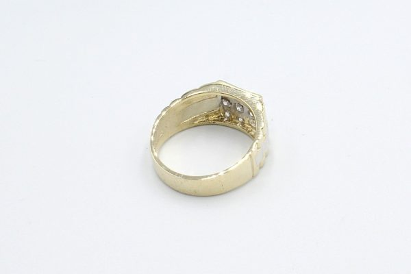 gold rolex style ring rear