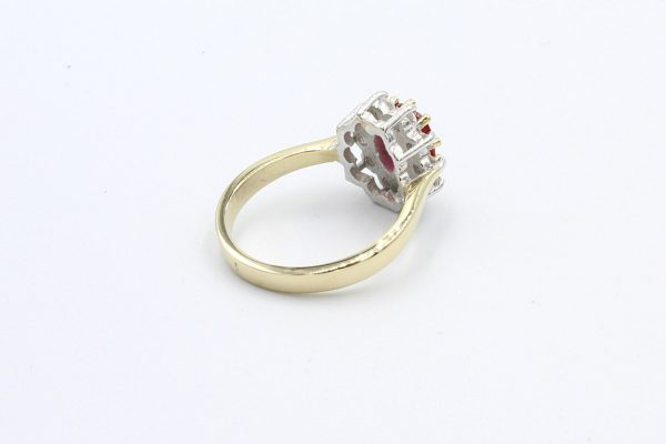 gold ruby diamond cluster ring 2