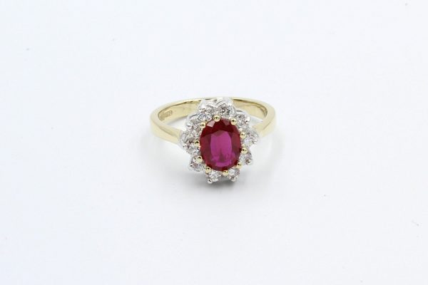 gold ruby diamond cluster ring 3