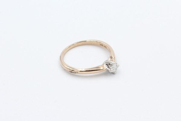 gold solitaire diamond ring 2 1