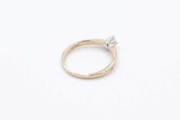 gold solitaire diamond ring 3 1
