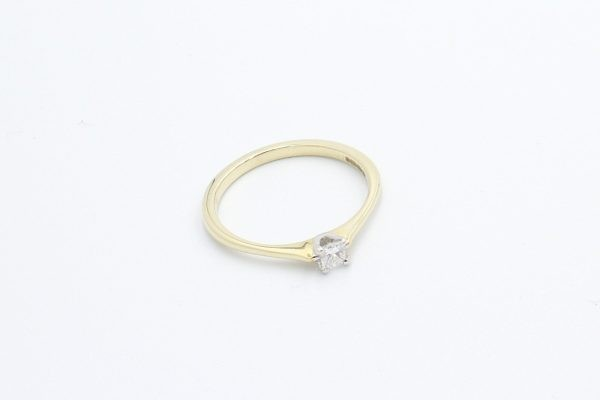 gold solitaire engagement ring 3 1