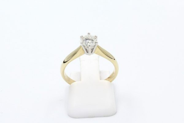 gold solitaire engagement ring 4