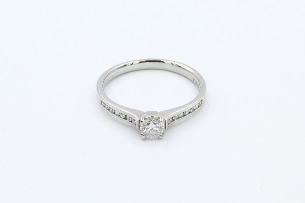 platinm solitaire channel diamond ring 1