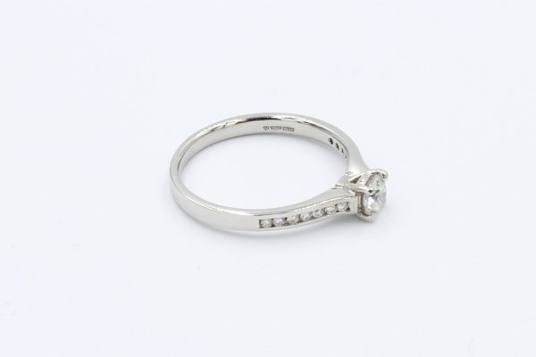 platinm solitaire channel diamond ring 2