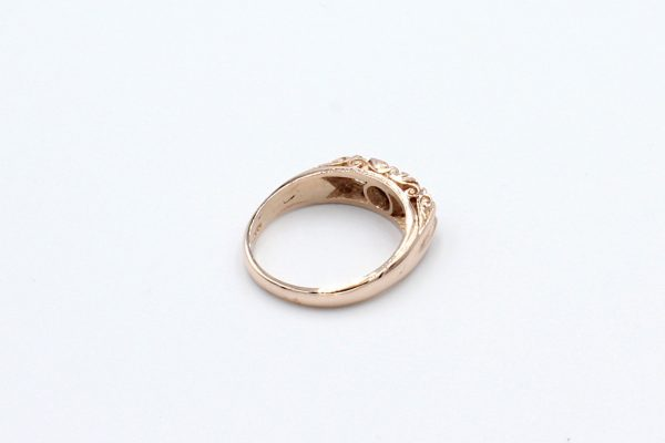 rose gold antique style ring back