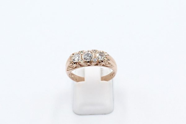 rose gold antique style ring front